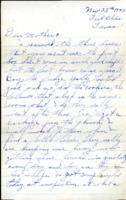 Letter from Daniel Klapproth to his mother while stationed in Fort Bliss, Texas, November 28, 1943