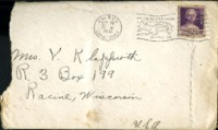 Letter from Daniel Klapproth to his mother while stationed in Fort Amador, Canal Zone, October 19, 1941